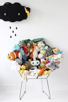 DIY Stuffed Animal Chair - recycle old plushes into a super fun chair!