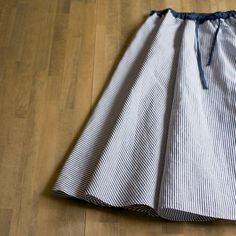 コットン&リネンのブロードでつくる大人のサーキュラースカート