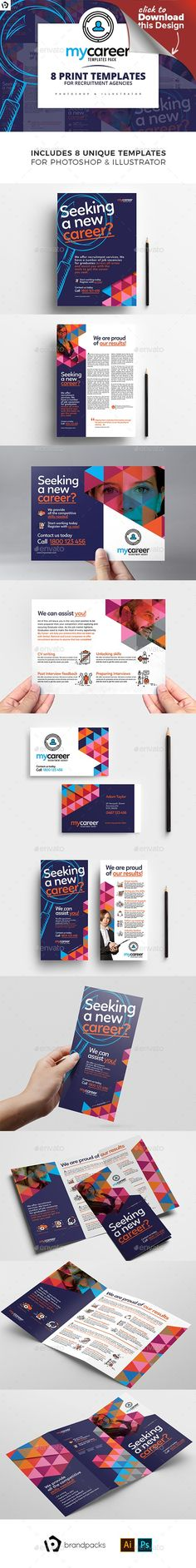 agencies, ai, BrandPacks, brochure, brochure template, business card, clean, corporate, dl, dl card template, flyer, flyer design, flyers, geometric, illustrator, modern, pattern, photoshop, poster, posters, psd, purple, rack card, recruitment, recruitment agency, tri-fold, trifold, vector Recruitment Agency Templates Pack for Adobe Photoshop & Adobe Illustrator This set of readymade print templates are ideal for recruitment agencies, lawyers, accountants and other corporate / profes...