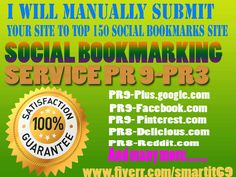 i will Manually submit your website or blog or video links to 150+ Manually Social Bookmarking Site. Services including Top 100 sites (PR 9 to 3)and trust to your website to help increase its Search engine ranking.