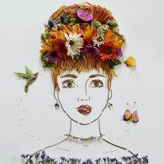 """Penelope"" Flower Face Print by Vicki Rawlins"