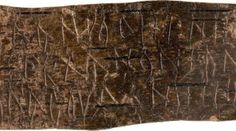 <p>Brief op berkenbast geschreven in Cyrillisch in een dialect van het oud-Fins (13e eeuw)</p>