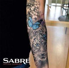 sleeve tattoos for women full ~ sleeve tattoos for women Upper Half Sleeve Tattoos, Tattoos For Women Half Sleeve, Full Sleeve Tattoos, Women Sleeve, Tattoo Sleeves, H Tattoo, Tiger Tattoo, Metal Tattoo, Yakuza Tattoo