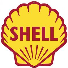 Shell Gas Motor Oil Dealer Advertising Sign Clean Vintage Style USA Made Retro Garage Art Wall Decor Free Shipping SHL019 by HomeDecorGarageArt on Etsy