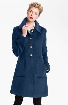 Tahari 'Megan' Single Breasted Coat | Nordstrom