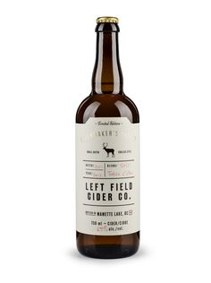 Left Field Cider Co. by Also Known As Studio // via TheDieline