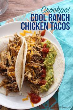 Cool Ranch Shredded Chicken Tacos (Crockpot Recipe) | New Leaf Wellness | Bloglovin'