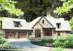 House Plan 16883WG - One level living with 4 beds, 3.5 baths, just under 2,500 sq. ft.  With a great lower level/walkout version you've gotta see!