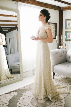 Vintage Lace Claire Pettibone Gown | photography by http://www.michellegardella.com