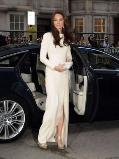 Kate Middleton - Thigh Split with Jimmy Choo Heels