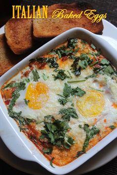 YUMMY TUMMY: Italian Baked Eggs Recipe - Baked Eggs in Marinara Sauce #RedpackRecipies #RedpackTomatoes@RedGoldTomatoes #ad