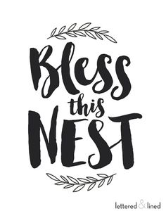 Bless This Mess print Family Hand Lettered by letteredandlined