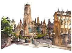 Manchester Urban Sketchers Symposium : Painting the town (brick) red! | Citizen Sketcher