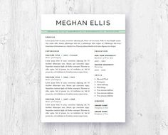 Creative Resume Template For Word And Pages  Two Page Resume With
