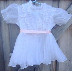 VINTAGE Girls 70s Party Dress 3T by lishyloo on Etsy, $10.00