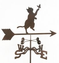 Weathervanes, Copper Weathervanes, Weather Vanes, Lightning Rods and Ornaments: Cat and Butterfly