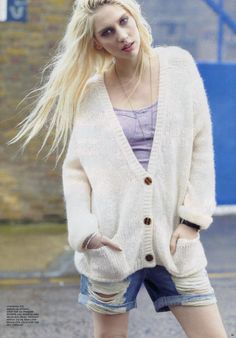 More magazine featured the #AmericanApparel Mohair Cardigan, UK April 2013. #More #magazine #mohair