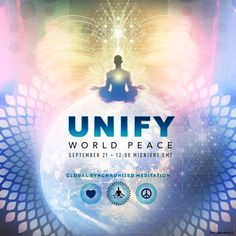 Over 400 events are now registered worldwide for the global meditation on September 21 at 12am GMT.  #BeThePeace #UNIFYWorldPeace #UNIFY #PeaceDayLIVE #PeaceDay