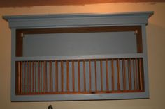 Large, Wall Mounted, Wooden, Handmade Plate Rack