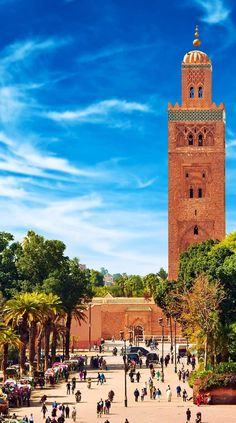 Famous Main square of Marrakesh in old Medina