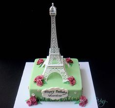 Eiffle tower cake!