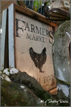 Chicken Sign @ Monticello Antique Marketplace Spring Show 2013