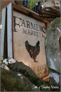 Chicken Sign @ Monticello Antique Marketplace Spring Show 2013