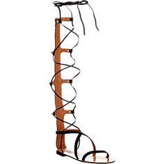 Valentino Rockstud Gladiator Sandals - Sandals - Barneys.com