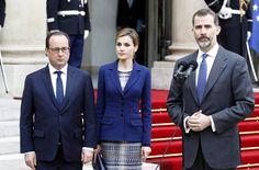 Pin for Later: Le Roi et la Reine d'Espagne Arrivent à Paris Avant d'Interrompre Leur Voyage