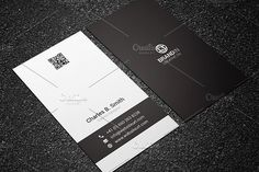 Minimal Black & White Business Card by Made by Arslan on @creativemarket