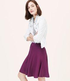 LOFT Knit Circle Skirt color Winter Berry