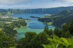 """Sete Cidades Lagoon S. Miguel Azores Portugal Go to http://iBoatCity.com and use code PINTEREST for free shipping on your first order! (Lower 48 USA Only). Sign up for our email newsletter to get your free guide: """"Boat Buyer's Guide for Beginners."""""""