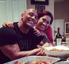 Dwayne Johnson & His Mom