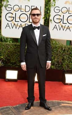 Michael Fassbender rocked some shades at the Golden Globes.