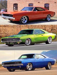 Charger Nation - reminds me of my moms 69 Charger(Turquoise Blue w/white top)