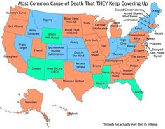 Most Common Causes of Death by US State That THEY Keep Covering Up