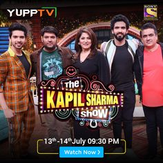 Watch the latest episodes of popular Sony Entertainment APAC show, The Kapil Sharma Show through YuppTV. Access all the latest Hindi TV shows and videos through Catch-Up TV. Kapil Sharma, Sony Tv, Tv Shows, Entertaining, Live, Movie Posters, Film Poster, Funny, Billboard