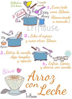 Yummy Drinks, Yummy Food, Recipe Drawing, Spanish Dishes, Food Drawing, Homemade Beauty Products, Meal Planner, Food Illustrations, Food Hacks
