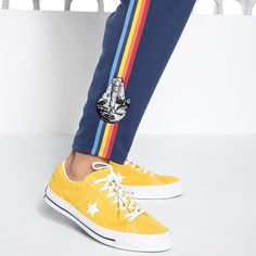 Our Universe Star Wars Solo Guys Track Pants - Star Wars Shoes - Ideas of Star Wars Shoes #starwars #shoes #starwarsshoes - Go on a Kessel Run // Our Universe Star Wars Solo Guys Track Pants Geek Fashion, Fashion Shoes, Star Wars Shoes, Star Wars Gifts, Striped Fabrics, Navy Pants, Cute Shoes, Track, Geek Stuff
