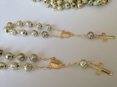 Recuerditos decenario12 pcs /baptism favors decades/ mini rosary / gold plated on Etsy, $13.00