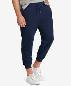 Polo Ralph Lauren Men'S Big &Amp; Tall Jersey Jogger Pants, Navy