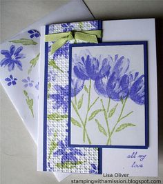 Watercolor Garden SU card-could use with several stamp sets