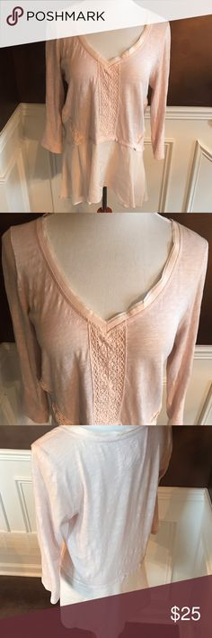 Anthropologie Meadow Rue Tunic Top Gorgeous...so soft & feminine! Very soft pink; great, gently worn condition! Anthropologie Tops Tunics