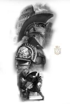 God Tattoos, Warrior Tattoos, Viking Tattoos, Forearm Tattoos, Body Art Tattoos, Zeus Tattoo, War Tattoo, Sick Tattoo, Half Sleeve Tattoos Drawings