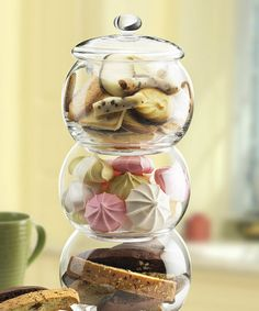 Large Three-Tier Globe Canister Zulily