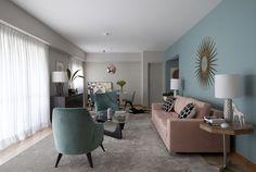 Apartamento alugado ganha poesia e identidade com tons pastel - Casa Vogue | Apartamentos