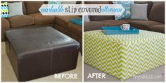 tinysidekick: DIY Slip Covered Ottoman {perfect for a kid space}