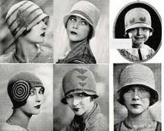 The cloche for the lady in the must! Flappers in the Roaring Twenties 20s Fashion, Moda Fashion, Fashion History, Vintage Fashion, Fashion Stores, Cheap Fashion, Womens Fashion, Fashion Brands, Sombreros Cloche