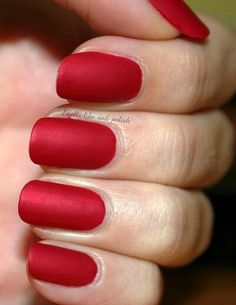 Nails Matte Red Acrylic Nail