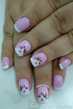 Perfect Colorful Floral Nail Design – 9 It's your turn to have great nails! Check out this year's most … Great Nails, Fabulous Nails, Cute Nails, Spring Nails, Summer Nails, Hair And Nails, My Nails, Flower Nails, Cookies Et Biscuits